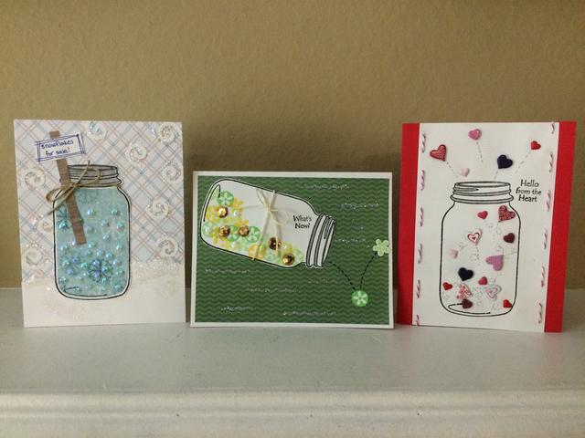 Mason Jar Handmade Greeting Cards