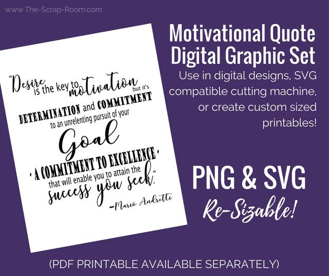 Motivational Quote PNG and SVG Set