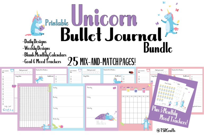 photo regarding Free Mood Tracker Printable referred to as Absolutely free PRINTABLE UNICORN PLANNER