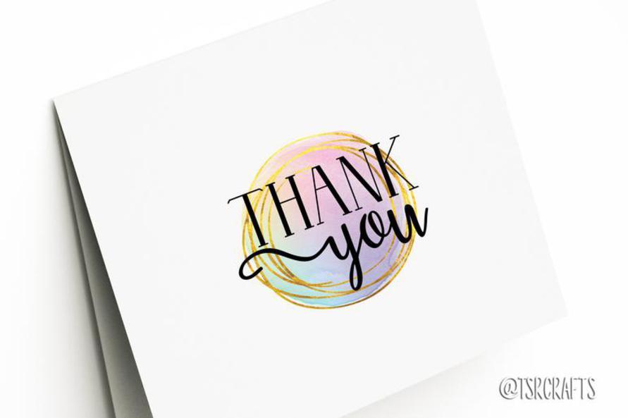 Free Thank You Printable Greeting Card